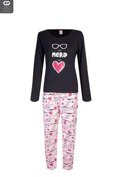 Ladies Nerd Knit Flannel Set | New In