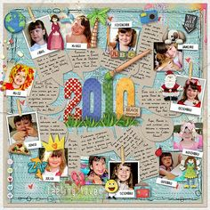 #papercraft #scrapbook #layout  Year in Review  great idea. I should try this