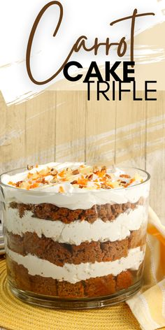 Trifle Bowl Desserts, Trifle Recipe, Easy Desserts, Delicious Desserts, Trifle Pudding, Yummy Treats, Sweet Treats, Yummy Food, Homemade Carrot Cake