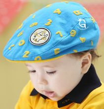 3e033239 100% Cotton Lovely Kid Hat for Girl Boy New Elastic 48-52cm Unisex Baby