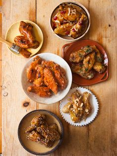 Why settle for one style of chicken wings when you can have five? Here's our updated take on the classic game-day snack. #superbowl #chickenwings