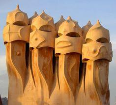 Gaudi - Chimneys of La Pedrera (Barcelona)