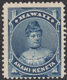 "Hawaii – 1882 Scott 37 1c blue ""Princess Likelike"""