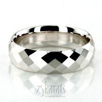 Diamond Cut Basic Wedding Ring #weddingband #gold #25karats