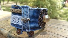 Hey, I found this really awesome Etsy listing at https://www.etsy.com/listing/289252803/upcycled-denim-bracelet