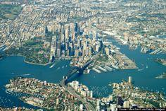Puerto de Sydney despegando desde Sydney.