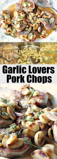Garlic Lovers Pork Chops have a mildly sweet and fragrant garlic flavor that doesn't overpower or overwhelm the taste buds. Trust me when I tell you that these will be some of the best pork chops you've ever eaten! - Kudos Kitchen by Renee
