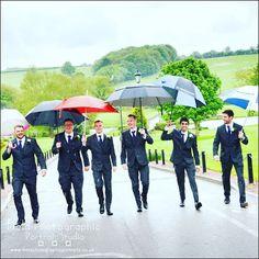 Umbrellas make great shots #horsleylodgeweddingphotography #groomsmen #fieldphotographicportraits #merv_spencer | From Field Photographic Portrait Studio | http://ift.tt/20TBije