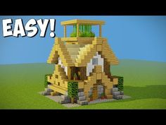 ►Small Starter house tutorial with a roof side garden and everything you need to survive in minecraft with a medieval style! Minecraft Roof, Minecraft Starter House, Minecraft House Tutorials, Minecraft Construction, Minecraft Tutorial, Minecraft Creations, Minecraft Designs, Minecraft Crafts, Minecraft Buildings