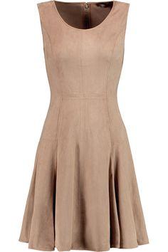HALSTON HERITAGE Stretch-Faux Suede Mini Dress. #halstonheritage #cloth #dress