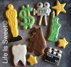 The Oscars 2016 cookies by Life Is Sweet