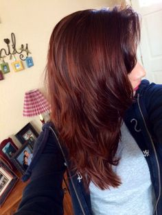 age beautiful hair color dark red mahogany brown - Google Search