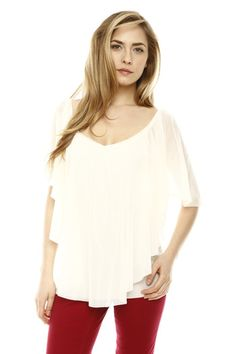 I love this Flowing V-Neck Top https://www.shoptiques.com/products/flowing-v-neck-top @Shoptiques