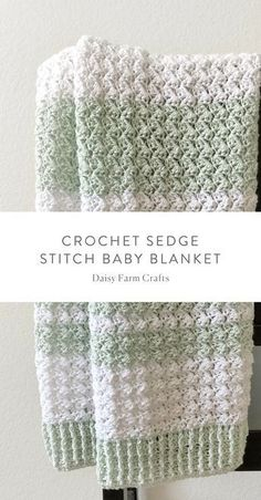 Crochet baby blanket 387661480422241798 - Free Pattern – Crochet Sedge Stitch Baby Blanket Source by Crochet Afghans, Motifs Afghans, Crochet Blankets, Crochet Afghan Patterns, Crochet Borders, Crochet Baby Blanket Free Pattern, Crochet Baby Blanket Beginner, Crochet Blanket Stitches, Crochet Crafts