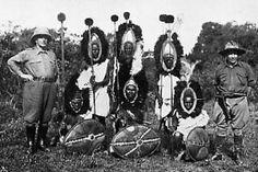 A photo of Kikuyu warriors