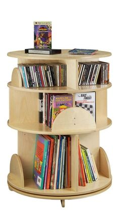 Revolving bookcase - book carousel! | Would be good for kids nightstand or in reading nook