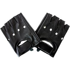 Blue Banana PU Leather Gloves (Black) ($11) ❤ liked on Polyvore featuring accessories, gloves, black, black gloves and blue gloves