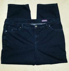 9.49$  Buy here - http://vildu.justgood.pw/vig/item.php?t=wfxue235266 - Gloria Vanderbilt Dark Blue Amanda Jeans Pants 42 waist 48 hips 27 inseam Sz 18