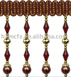 material: polyester, bead density: 38 pcs/m color: any color will be available use: for curtain, sofa, decoration and ect.