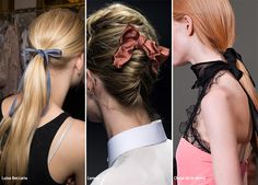 Spring/ Summer 2016 Hair Accessory Trends: Bows & Ribbons  #hair #accessories #trends #ss16