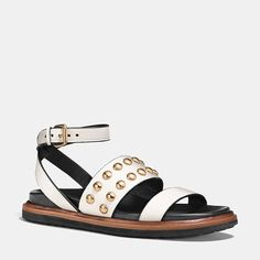 91c9f3f19c64 Coach Dannie Leather Sandal is on Rue.
