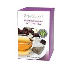 Revolution Tea Bags - Blackberry Jasmine Oolong Tea - 20 Count - http://teacoffeestore.com/revolution-tea-bags-blackberry-jasmine-oolong-tea-20-count/