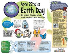 Earth Day infotoon classroom poster .pdf file by Dogfoose on Etsy