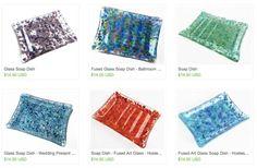 Handmade Glass Soap Dish https://www.etsy.com/shop/chelkay?section_id=15239230 #glasssoapdish