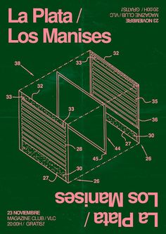 POSTER for La Plata + Los Manises Magazine CLUB (VLC) atfcs, 2016.