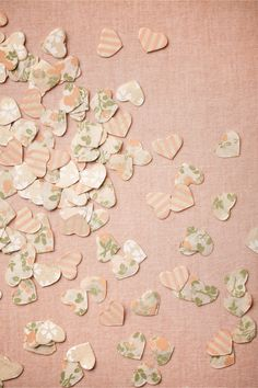 Heartburst Confetti - could be used instead of throwing rice or also as a cute table deocration