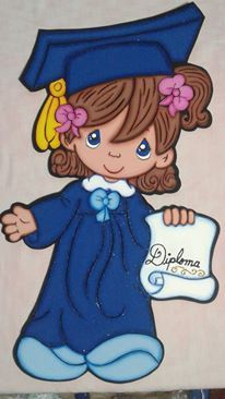 Graduation Cards Handmade, Graduation Crafts, Graduation Open Houses, Graduation Cookies, Kindergarten Graduation, Precious Moments Coloring Pages, Precious Moments Dolls, Diy And Crafts, Arts And Crafts