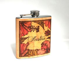 Real wood flask unique Bridesmaids gift Maid of by Wickensnuffers