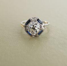 Antique 2ct European Cut Diamond Ring