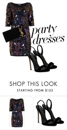 """""""party dresses"""" by connieimageconsultant on Polyvore featuring Giuseppe Zanotti and Yves Saint Laurent"""