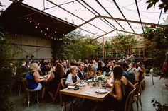 elysian // greenhouse wedding reception - photo by Kym Ventola Photography http://ruffledblog.com/elysian-los-angeles-wedding