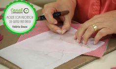 Fazendo molde com protetor de glitter em fast patch - Valéria Souza