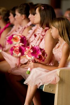 Pink wedding, catholic mass
