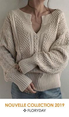 Shop Floryday for affordable Sweaters. Floryday offers latest ladies' Sweaters collections to fit every occasion. Couture, Knitting Designs, Pulls, Blouse, Knit Crochet, Pullover, Boho, Sweaters, Jackets
