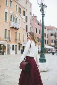 How to style pleat midi skirt