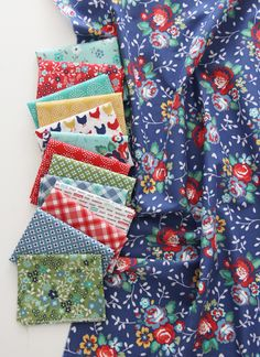 It's new fabric day! I'm finally sharing my fabric line with Windham Fabrics, Backyard Blooms. It's showing to Quilt Shops now, and will be available in stores late July (I… Cluck Cluck Sew, Chicken Quilt, Miniature Quilts, Windham Fabrics, Simplicity Patterns, Colored Denim, Quilt Tutorials, Little Dresses, Pattern Paper