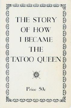 Tatoo Queen the story of Jean Furella Carroll