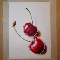 #PoA feature of the day - Realistic cherries  by @indigo_inferno - very nicely done. . . #potpourriofartists #cherries #cherry #realistic #fruit #draw #drawing #arts_help #paint #painting #sketch #sketching #sketchbook #art #artwork #artist#feature #featureoftheday #artistoftheday