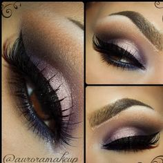 Fall Smokey Eye by MaquillateconAurora G. Click the pic to see the products she used. #beauty #makeup #nightout