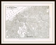 Antique Map - CLEVELAND OHIO - 1939 by KnickofTime on Etsy, $11.50