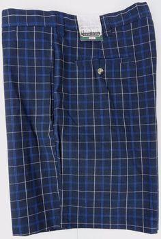 "NWT Très Bien Golf Shorts Mens 40 Navy Blue Plaid 8.5"" Inseam Phone Pocket New #TresBien #Golf"