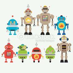 Vector Art : Robots vector set