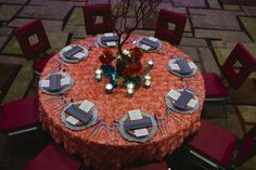 Modern table setting at the Fairfield Inn & Suites Charlotte Uptown. Photography by @richardi Design by @clarkeallen