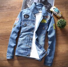 >> Click to Buy << 2016 Mens Casual Denim Jackets and Coats Male Spring Autumn Jean Jacket Outerwear With Patch Single Breasted Men's Jean Jacket #Affiliate