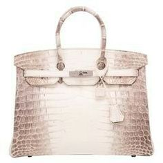 4d4565db3f7a View this item and discover similar top handle bags for sale at - Hermes  Himalayan Birkin of white matte niloticus crocodile skin with palladium  hardware.