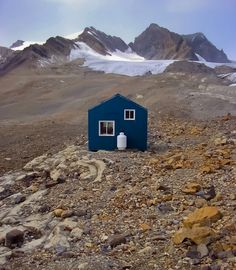 serene isolation : R.J. Ritchie Hut, located in Canada's Banff National Park